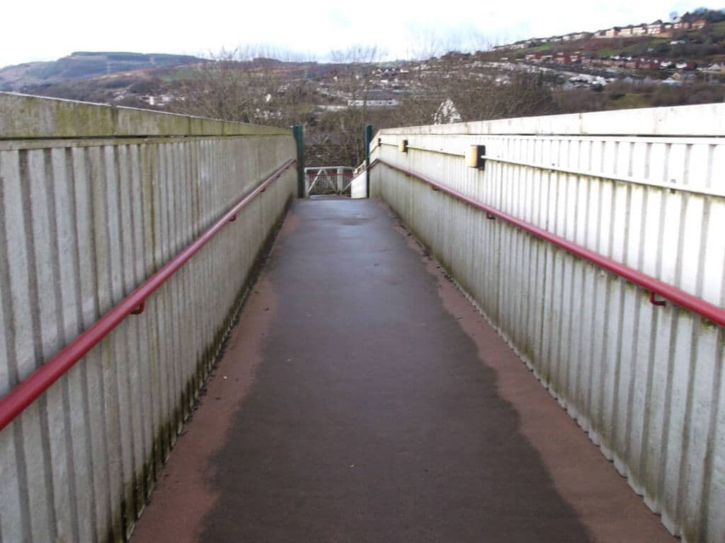 Trelewis Primary School Footbridge Before 1
